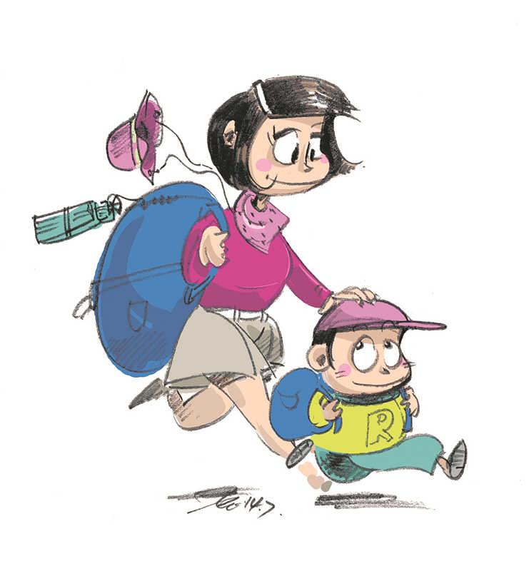 老师开导家长应该带孩子出游